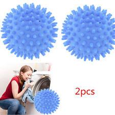 2xDryer Balls Laundry Washing Natural Cloth Drying Fabric Softener Free shipping