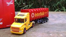 "Herpa Scania Hauber Bulkcontainer-Sattelzug ""Boere / IBC"" (NL)  scale 1:87"