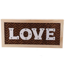 LOVE LED Wall Decoration Hanging Or Freestanding Light Up Sign Wooden Gift