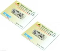 Two (2) Pack KMC 11-Speed Missing Link Chain Links for Shimano Campagnolo KMC