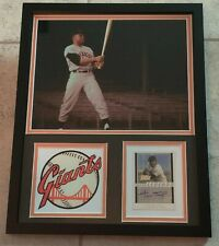 WILLIE MAYS AUTHENTIC Signed Autographed FRAMED 11X14 GIANTS 2003 TOPPS LEGENDS