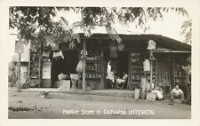 Panama * Native Store in Panama Interior RPPC ca. 1940s * Lucky Strike Cigarette