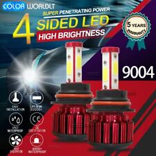 2Pcs 9004 4-side Led Headlight Bulbs High/Low Dual Beam 32000Lm 6000K White Lamp (Fits: Isuzu)