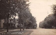 Ithaca Michigan~South Jefferson Street Homes~Vintage Car~Dirt Road~1920 RPPC