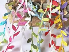 Vintage Decorative Satin LEAF RIBBON GARLAND TRIMMING /Christmas/Craft/Bridal