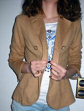 Sexy H&M Blazer Boyfriend Jacke camel cognac Doppelreiher 34 36 XS S wie neu