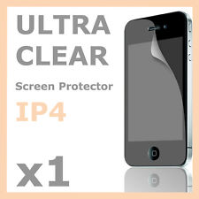 1x Ultra Crisp Clear Screen Protector LCD Guard Film for Apple iPhone 4S 4 4G