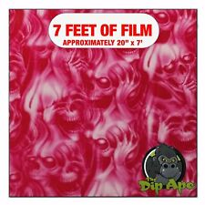 Hydrographic Film Pink See No Evil Skulls Hydro Dipping 7 X 20 Hydro Dip