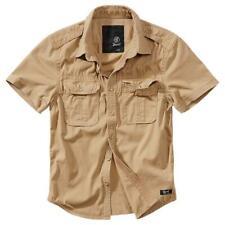 Brandit Vintage Shirt Shortsleeve Kurzarm Freizeithemd Camel Gr. XL Neu OVP