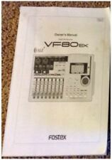 FOSTEX VF80EX RECORDER original factory owner's manual...