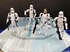 STAR WARS AOTC   ACTION  FIGURE  LOOSE - SET OF FOUR  CLONE TROOPERS