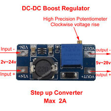 2A DC-DC Boost Converter 2v-24v to 5v-28v 9v 12v 24v Step Up Power Supply Module