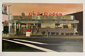 John Baeder Red Robin Diner 1980 Signed Silkscreen on Somerset paper