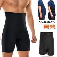 Men'S Body Shaper Tummy Control Slimming Shapewear Shorts High-Waist Bdomen Trim