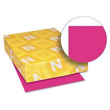 Neenah Paper Astrobrights Colored Card Stock 65 lb. 8-1/2 x 11 Fireball Fuchsia