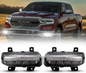 For 2019-2021 Dodge RAM 1500/2500/3500 LED DRL Bumper Fog Lights Driving Lamps