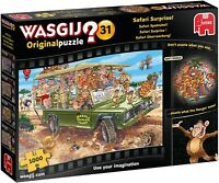 NEW! Jumbo Wasgij Original 31 Safari Surprise 1000 piece comic jigsaw puzzle