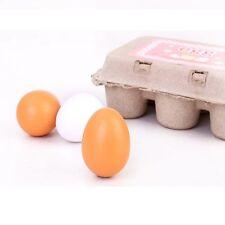 Toys Kids Toys Wooden Eggs Kid Child Pretend Play Toy Set Yolk Kitchen Cooking