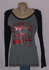 Chicago Cubs Womens Metallic Raglan Long Sleeve Shirt M - MLB