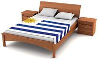 "Fuzzy Flags™ Uruguay Flag Fleece Blanket 80"" x 50"" Oversized Travel Throw Cover"
