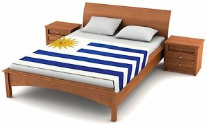 "Fuzzy Flags™ Uruguay Flag Fleece Blanket 80"" x 50"" Oversized Travel Throw Cover"