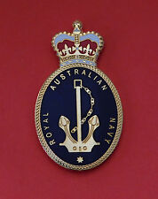 ROYAL AUSTRALIAN NAVY BADGE QC SMALL SIZE FOR PLAQUES FRAMING DISPLAY 45MM HIGH