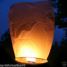 3pz Lanterna Cinese Volante a forma di Cuore Bianco