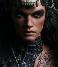 1/3 bjd doll dolls deep tan color muscle male doll with only with face make up