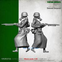 1/35 German Woman Soldier Unpainted Resin Model Kit YuFan Model GK WWII Warrior