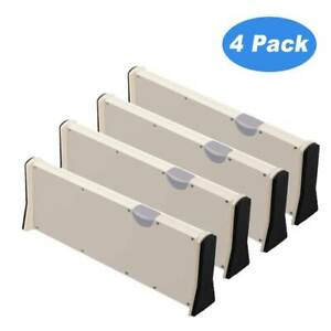 Drawer Organizer. Adjustable, Expandable White Drawer Dividers For Clothes Socks