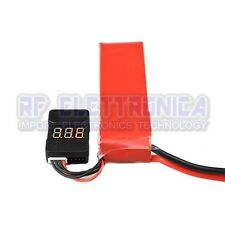 2Pcs BX100 Battery Voltage Tester Low Voltage Alarm Buzzer For 1~8S Lipo Battery