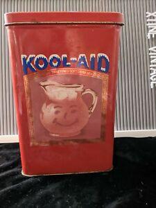 Vintage Original Kool-aid Tin Red Kool Aid Man UK Made