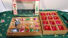 Vtg Lot 33 Mica Shiny Brite Mercury Glass Christmas Ornaments 4 Indented 18 Tiny