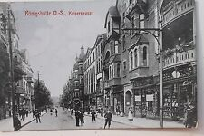 26893 AK Königshütte Oberschlesien Kaiserstraße Laden Geschäfte 1910