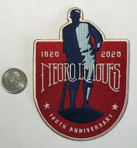 Baseball Negro Leagues 100th Anniversary patch. Limited edition. New.