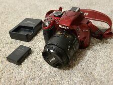 Nikon D D3300 24.2MP Digital SLR Camera - Red (Kit w/ AF-S DX VR II 18-55mm...