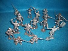 Marx reissue set of 16 Civil War Confederates in pewter/silver color