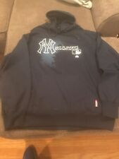 New York Yankees Majestic Hooded Sweatshirt XXL 2011 Playoffs Euc Therma Base