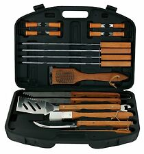Mr. Bar-B-Q 94001X 18-Piece Stainless Steel Barbecue Tool Set with Storage Case