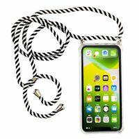 Apple IPHONE 11 Pro Max Handykette Coque Avec Ruban À Accrocher Corde Noir De