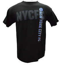 NYC FC   New York City FC Officially Licensed MLS Vertical Logo S/S T-Shirt