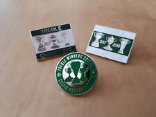 More details for celtic treble winners 2017-2018 pin badge set gift
