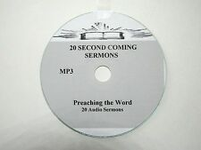 20 SECOND COMING AUDIO SERMONS, MP3 one CD