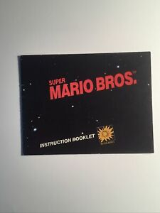 SUPER MARIO BROS. Instruction Manual Booklet Nintendo NES Authentic Vintage 1985