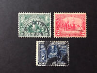 GandG US Stamps #328-330 Jamestown Expo Set Used