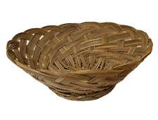 """Wicker Basket Decorative Storage Display. Round Base. 4.5""""H"""
