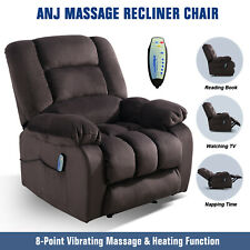Massage Recliner Chair With Massage Heat & Vibration Lounge Chair W/RC Chocolate