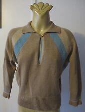 JUMPER Long raglan sleeve Collar 85% Wool Vintage Italian Marina Spadafora Indie