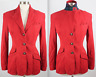 Vintage sz 4 Ralph Lauren Polo Collection suede leather jacket red