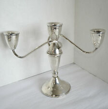 Vtg Duchin Creation Sterling Silver Twisted 3 Arm 2 Piece Candlestick Candelabra
